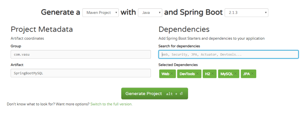Configure Spring Boot With MySQL